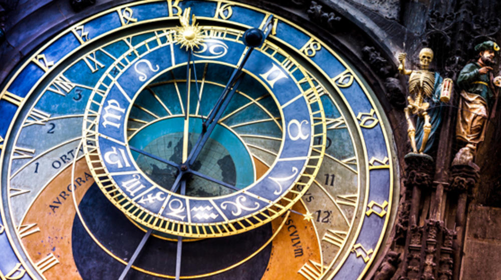[Translate to English:] Astronomische Uhr in Prag
