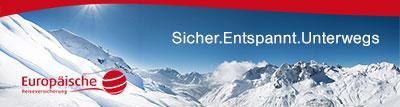 Banner mit Winterlandschaft in den Bergen